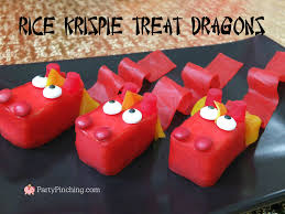rice krispie dragon treats for chinese lunar new year easy to make