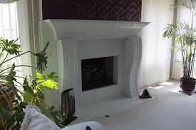 traditional white marbled concrete fireplace surround truecrete