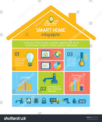 Home Automation Logo Design Smart Home Automation Technology Infographics Utilities Stock