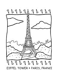 coloriage pays et regions tourisme a paris à colorier allofamille