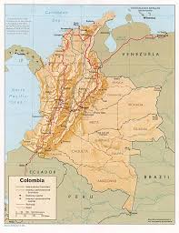 Columbia South America Map by
