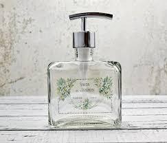 soap dispenser french farmhouse bathroom decor chrome