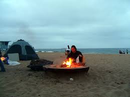 Beach Fire Pit by Dockweiler Beach Fire Pit Man Like Fire Fire Good Flickr