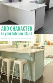kitchen island peninsula remodelaholic update a plain kitchen island or peninsula with