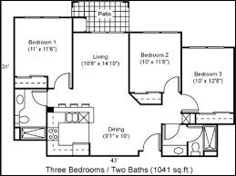 Three Bedrooms 2 Or 3 Bedroom Apartments Home Furniture Furnishings