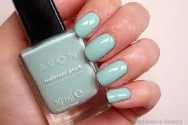 review avon nailwear pro nail polish minty adjusting beauty