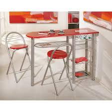 table de cuisine pratique table bar brigitte métal laqué meuble de cuisine pratique dim