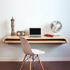 Small Wall Desk Minimal Wall Desk Rift Oak Minimal Desks And Concrete Bricks