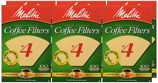 melitta cone coffee filters natural brown no 4 100 count
