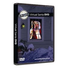 Holographic Christmas Window Decorations virtual reality santa dvd santa claus in window