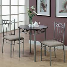 Round Dining Sets Shop Monarch Specialties Cappuccino Silver Dining Set With Round