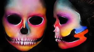 Skeleton Halloween Makeup by Colourful Skull Makeup Halloween Makeup Youtube