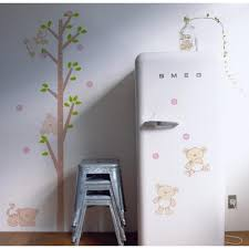 tree and bears growth chart wall sticker wall art decals vinyl tree and bears growth chart wall sticker