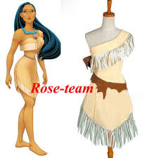 Womens Pocahontas Halloween Costumes Fantasia Anime Custom Pocahontas Indian Princess Dress Costum