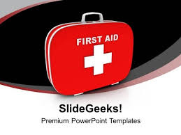 first aid and safety box powerpoint templates ppt backgrounds for