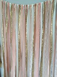 Pink And Gold Curtains Pink Gold Sparkle Sequin Fabric Backdrop With Lace