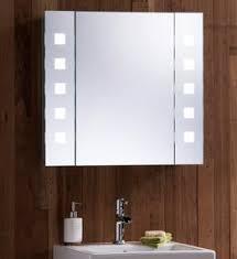 Led Illuminated Bathroom Mirror Cabinet by Double Led Illuminated Bathroom Mirror Cabinet Demister Shaver