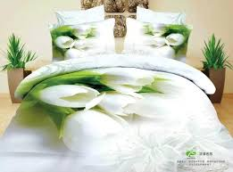 Pure Cotton Duvet Covers New Wedding Pure White Flower Bunch 100 Cotton 3d Printed