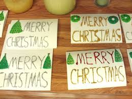 use glitter glue to make christmas cards hubpages