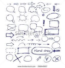 arrows talk bubble signs painted blue stock vector 286649957