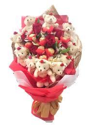 bears delivery 12 roses 12 teddy bears 8 ferrero bouquet best seller
