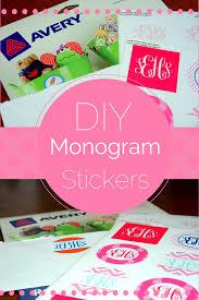 monogram stickers monogram 101 diy monogram stickers