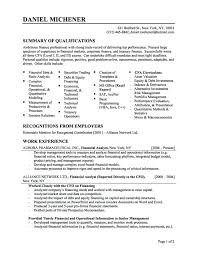 sample resume for mba freshers marketing best financial analyst