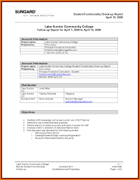trip report template letter format business