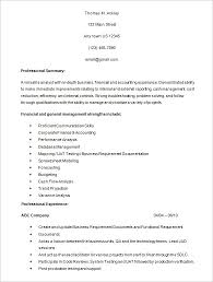 financial analyst resume example financial resume examples