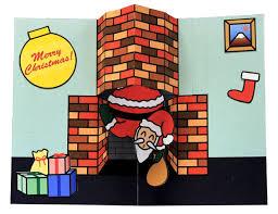 santa christmas pop up card template printable diy