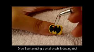easy batman nail art tutorial youtube