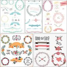 wedding laurels ornament set vector free