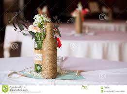 Table Centerpiece Wedding Reception Table Centerpieces Stock Photo Image 40027427