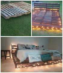 Diy Pallet Bed With Storage by Perfect A Few Lights In The Bottom Or More Storage And It U0027s A