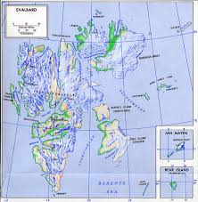Topographical Map Of Europe by Maps Of Svalbard Detailed Map Of Svalbard In English Physical