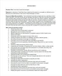 front desk agent job description resume sle jobstreet unique template with front desk agent job