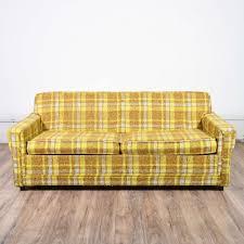 Sleeper Sofa San Diego by Retro Mid Century Modern Plaid Sleeper Sofa Loveseat Vintage