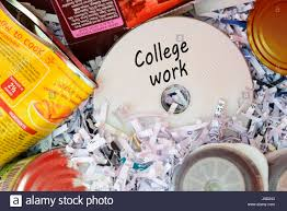 college work data disc thrown in bin dorset england stock photo