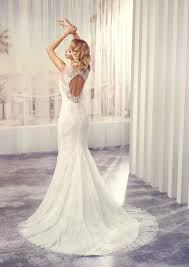 key back wedding dress beaded lace wedding dress with illusion neck line and open key