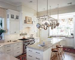 Kitchen Pan Storage Ideas by Pot And Pan Rack Kitchen Transitional Decorating Ideas With Tile
