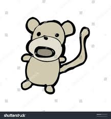 childs drawing monkey stock vector 51975613 shutterstock