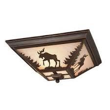 3 light flush mount ceiling light fixtures new 3 light rustic moose flush mount ceiling lighting fixture bronze