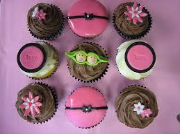 twin girls baby shower cupcakes