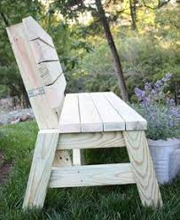 simple wooden bench garden bench seat built from a buildeazy