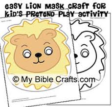 lion mask craft my bible crafts and activities