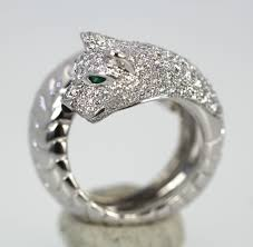 cartier diamond rings images Cartier panther diamond ring from the panthere de cartier collection jpg