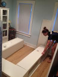 Build Wooden Bed Frame Storage Diy Bed Frame With Storage Together With Diy Pallet