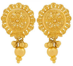 earrings gold design beautiful gold earrings designs pak
