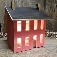 lighted saltbox house