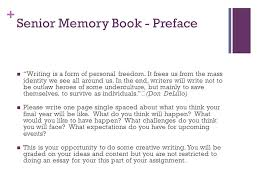 senior memory book ideas 12 friday november 2 nd today reminders homework review